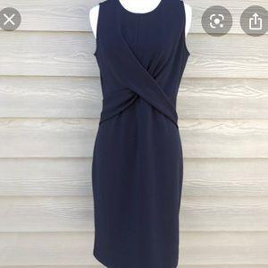 NWT Ann Taylor Navy Cross-Front Sheath Dress